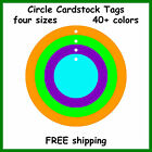 100 Circle Tags Color Cardstock Gift Price Craft Sale Consignment Shop Hang Tag