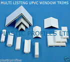 PLASTIC UPVC WINDOW DOOR TRIM ANGLES BEADING VARIOUS SIZES SHAPES 2 X 2.500mm