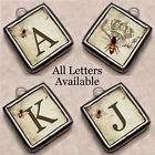 Initial Letters Crown Queen Bumble Bee Necklace Silver Handcrafted Charm Pendant