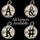 Letters Initials Sheet Music Typewriter Key Size Necklace Silver Charms Pendants