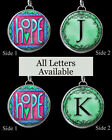 """Letters Initials Hope Teal Necklace 1"""" Silver Pewter Handcrafted Charm Pendant"""