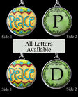 "Letters Initials Peace Green Necklace 1"" Silver Pewter Handcrafted Charm Pendant"