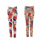 Women Ladies Elasticated Skinny Stretch Cigarette Tapered Trousers Pants Legging
