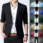Fashion Men Casual Busines Slim Outwear work Button Suit Blazer Coat Jacket Top