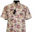 Subterfuge Cotton Stone Multi Color Hawaiin Shirt (163) in Size 2XL to 8XL