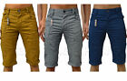 Mens Casual ETO Jeans Chinos Combats Shorts Trendy Regular Fit 3/4 Cargo Pants