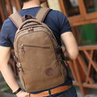 Classic Men's Military Canvas Shoulder Travel Hiking Student Camping College Bag