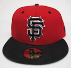 SF Giants Red On Black All Sizes Fitted Cap Hat by New Era