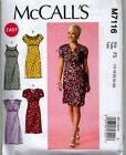 McCall's Ladies Gathered Empire Bodice Dress Semi Fitted Sewing Pattern 7116 NEW
