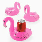 1/3/6/10 Mini Cute Flamingo Floating Inflatable Drink Can Holder Pool Bath Toy