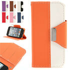 PU Leather Flip Case Cover Pouch Wallet With Card Holder For Apple iPhone 5/ 5S