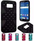 For ZTE Zephyr Z752C Sonata 2 Paragon Z753G Dynamic Hybrid Diamond Cover Case