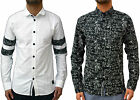 Mens Designer Anerkjendt Long Sleeve Casual Going Out Shirt Trendy Graphic Top