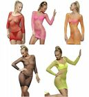 Lattice Fishnet Dress - 5 Colors - Rave Wear EDM Sexy Lingerie Dress fnt