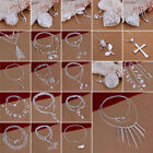 Elegant  925 Sterling Silver Pendant Necklace Womens Ladies Gift New