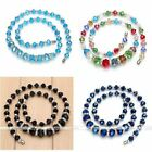 Black Blue Colorful Crystal Glass Rondelle Faceted Spacer Beads Necklace chain