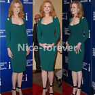 Fashion Women Celebrity Green Off shoulder Party Ladies Pencil Dress N569