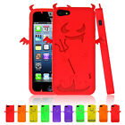 Angel Series Silicone Gel Case Cover For Apple iPhone 5 5S Free Screen Protector