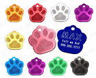 Pet Tags Custom Engraved Paw ID Tag Dog Cat Personalized Quality Free Ship