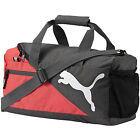 NEW PUMA FUNDAMENTALS BLACK RED ADJUSTABLE STRAP GYM ACCESSORIES HOLDALL BAG