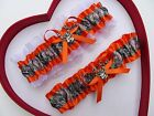 NEW Mossy Oak Camouflage Camo Orange White Wedding Garter Prom Hunting Deer