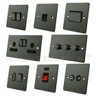 Full Range Flat Plate Black Nickel Light Switch Socket Outlet Dimmer Electrical
