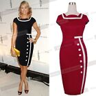 Formal Celeb Women Party Wedding Business Sheath Elegant Tea Pencil Dress Ng742