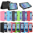 UK Luxury Leather Folio Stand Case Cover for iPad Mini 1 2 3 With Free Stylus