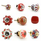 Large Selection of Red Ceramic Door Knobs Handle Cabinet Cupboard Drawer Pull