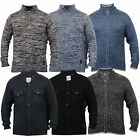 Mens Wool Mix Jumper Threadbare Knitted Top Sweater Pullover Funnel Neck Winter