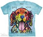DOG IS LOVE ADULT T-SHIRT THE MOUNTAIN DEAN RUSSO