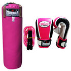 Morgan Boxing Punching Bag Womens Pink Gloves Hand Wraps Jump Rope MMA Filled