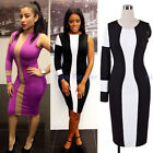 Summer Female Special One Sleeve Illution Bodycon Womens Party Dress N779
