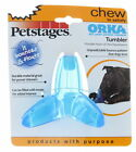 PETSTAGES ORKA TUMBLER Med/Lg Durable Bounces Floats Fill Treats Dog Chew Toy