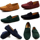 2017 Men's Suede Casual Leather Slip On Driving Moccasin Loafer Flats Car Shoes
