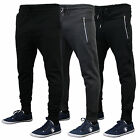 Mens Bottoms Brave Soul Jogging Cuffed Trousers Pants Gym Running Fleece Lined