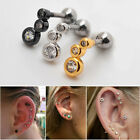 1x16G Rhinestone Cute Cartilage Earring Stud Ear Lobe Auricle Helix Piercing 1/4