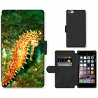 Cell Phone Card Slot PU Leather Wallet Case For Apple iPhone Seahorse