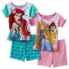 Disney Girls Princess 2 cotton Pajama Sets 4-piece multi Toddler size 3T, 4T NEW