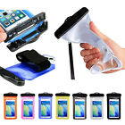 "Waterproof Pouch Dry Bag Protector Case Cover for 6"" Cell Phone with Armband"