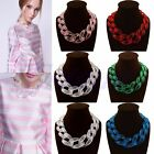 Fashion Jewel Lady Acrylic Collar Chunky Choker Statement Chain Necklace Pendant
