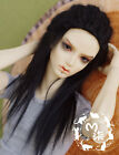 【M7】real wool deep black long STOCK WIG bjd SD 1/3 size doll use