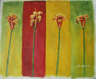 FLOWER ART 30 IMAGES 2 CHOOSE FROM 6 OIL PAINTING ROLLED OR STRETCHED 20X24""