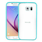 TPU Plastic Acrylic Snap Transparent Hard Back Case Cover for Samsung Galaxy S6