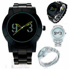 Mens Simple Modern Minimal Sporty Round Analog Quartz Metal Wrist Watch