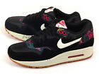 Nike Wmns Air Max 1 Print Black/Sail-Pink Force Aloha Fashion Casual 528898-004