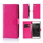 32nd PU Leather Flip Book Wallet Case Cover For Sony Xperia Mobile Phones