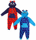 Boys Monster Sleepsuit Luxury Fleece Star Hooded Romper by Onezee 2 to 6 Years