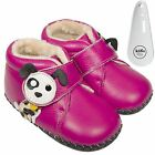 Girls Toddler Leather Soft Sole Baby Boots Booties Hot Pink & Puppy & Shoe Horn