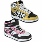 Girls Trainers Gola Kids High Ankle Skate Boots Lace Up Velcro Floral Leopard